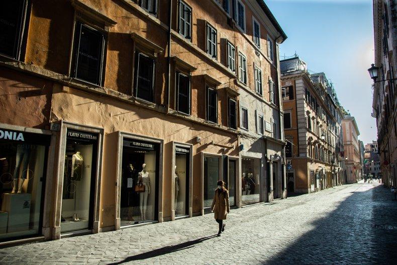 Via Borgognona, Rome, Italy, April 2020