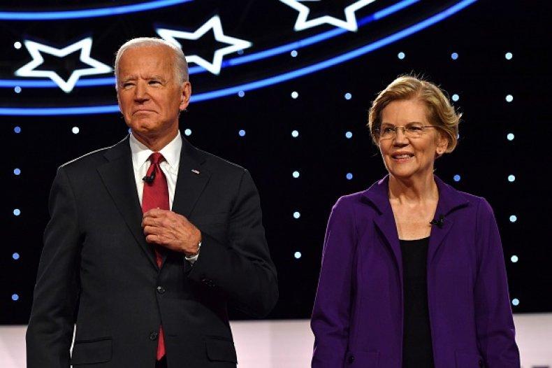 elizabeth warren joe biden fourth democratic debate