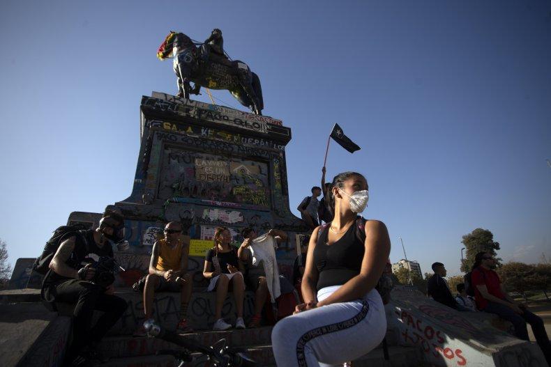Santiago, Chile, face mask, coronavirus, March 2020