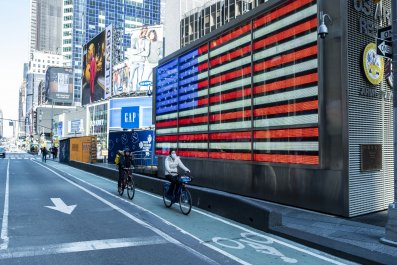 Time Square Flag