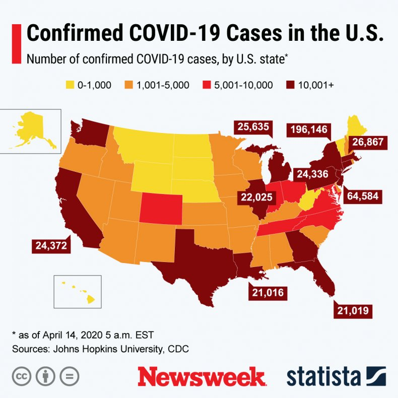 The spread of the COVID-19 virus in the U.S.