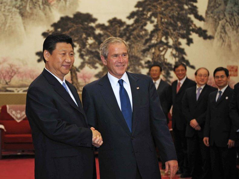 Xi Jinping George W. Bush Beijing