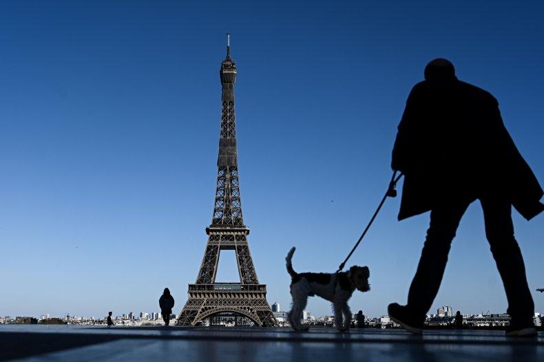 Paris, France, Eiffel Tower, coronavirus, April 2020