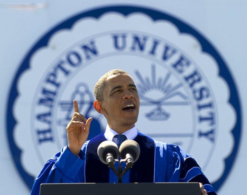 Barack Obama, Virgina, Hampton University graduation, 2010