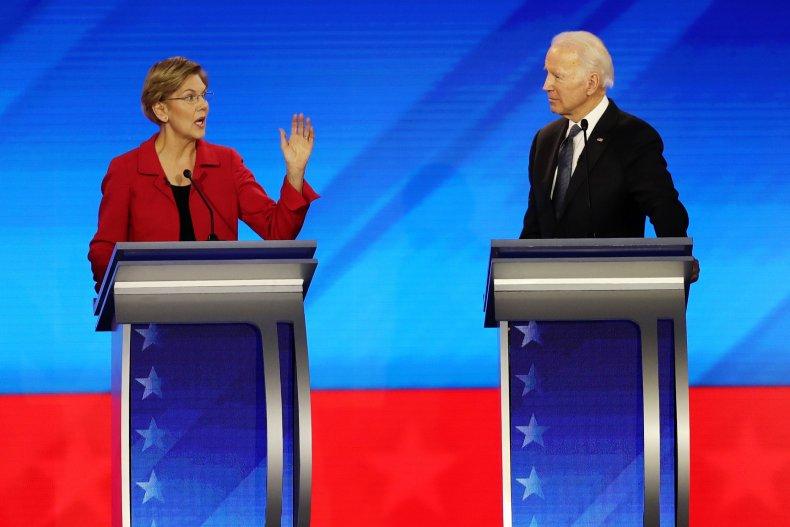 Elizabeth Warren and Joe Biden