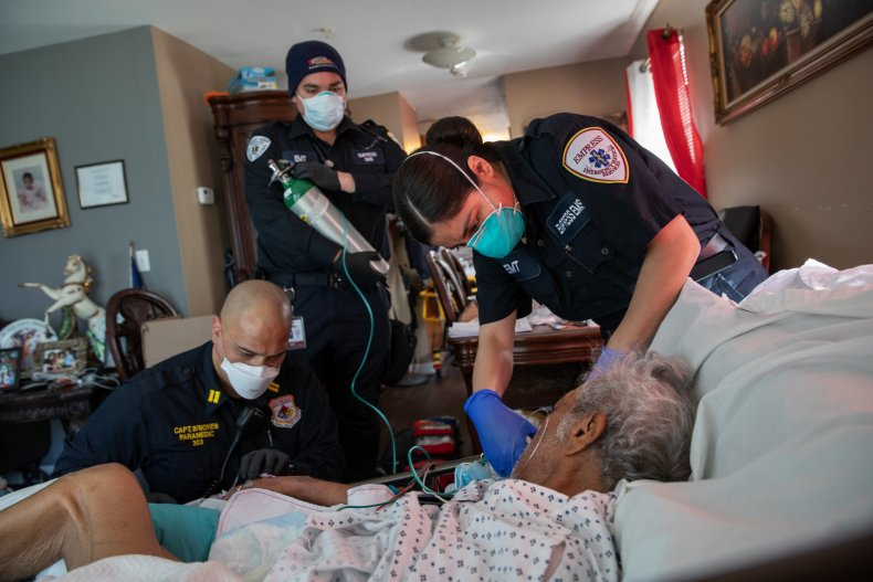 COVID-19, home, patient, New York, April 2020