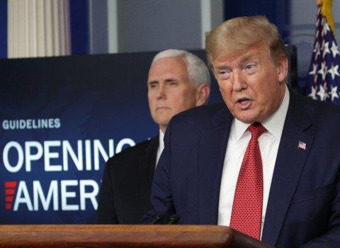Donald Trump Coronavirus lockdown social distancing