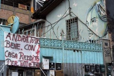 Italy Coronavirus Rome Banner