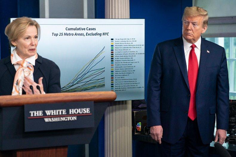 Dr. Deborah Birx and Trump