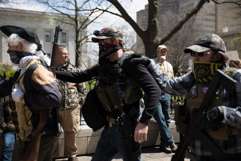 Local militia protests in Ohio