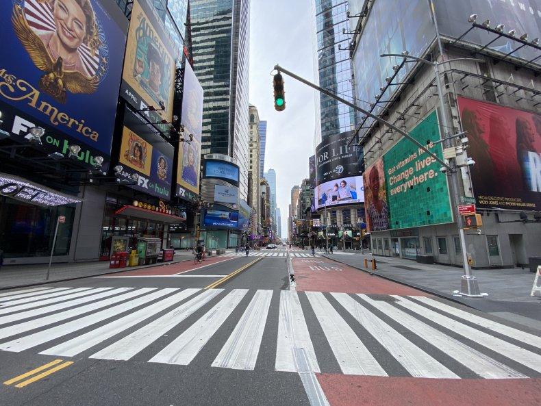 Times Square Coronavirus Lockdown