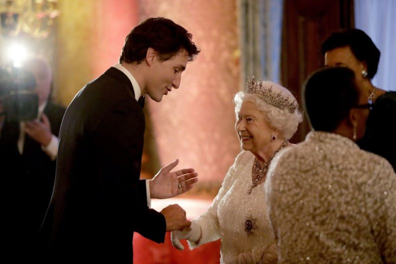Queen Elizabeth II, Justin Trudeau, Buckingham Palace