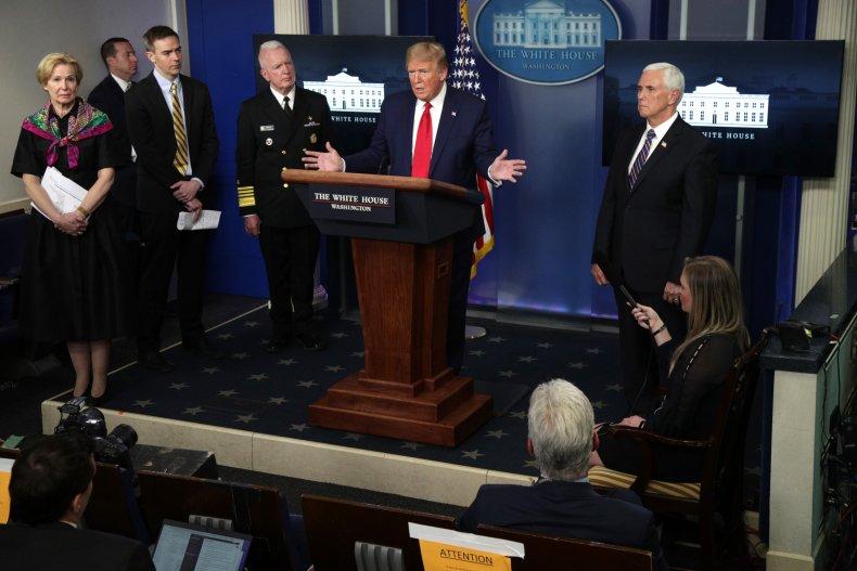 President Donald Trump, Deborah Birx, Mike Pence