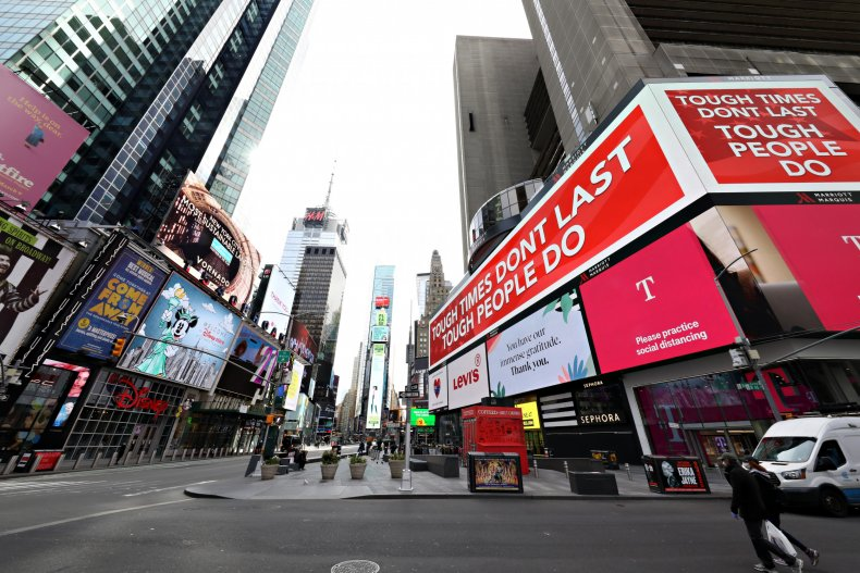 Times Square, New York City, April 2020