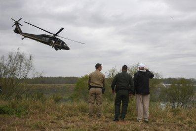Trump border patrol helicopter