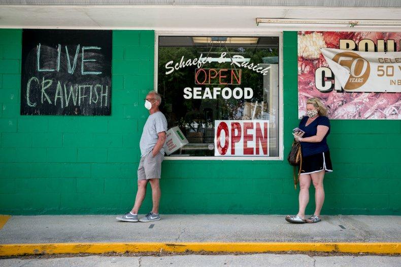 Coronavirus, Schaefer Seafood, New Orleans, Louisiana, April