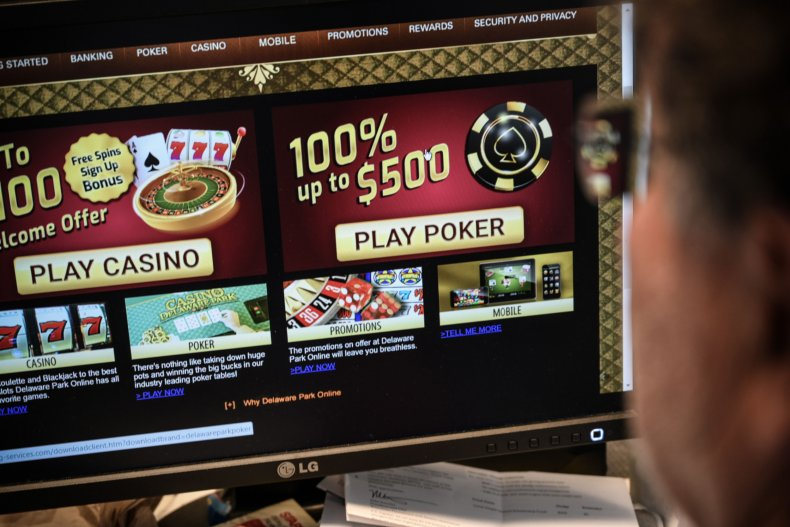 A gambling online website page