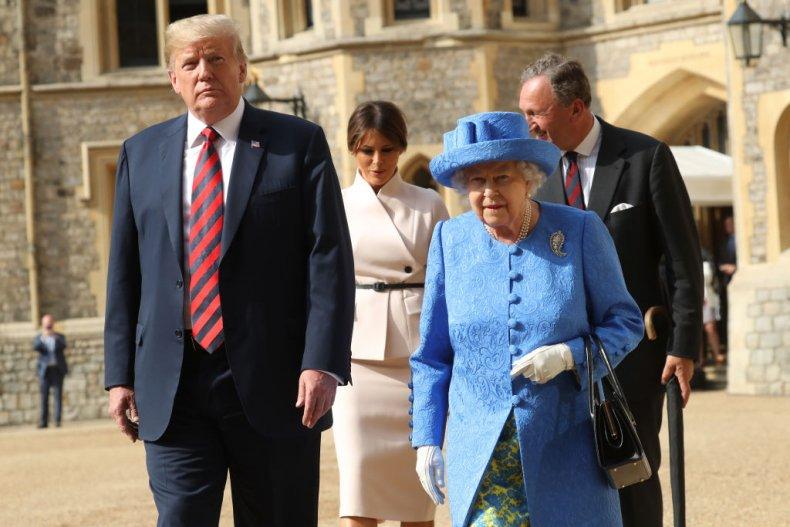 Queen Elizabeth II and President Donald Trump