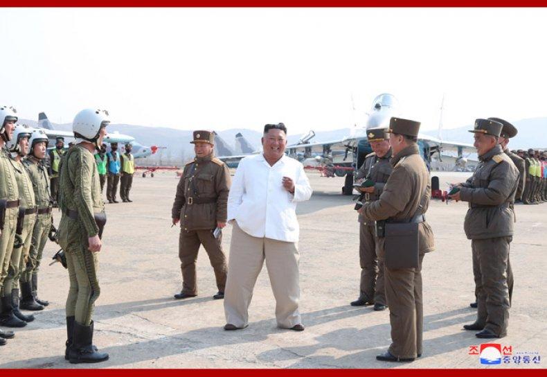 kim, jong, un, north, korea, air, force