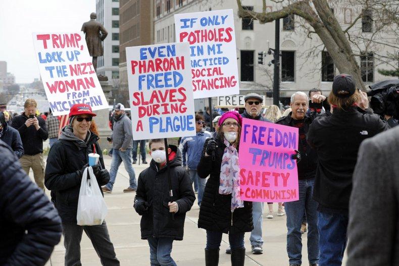 Michigan coronavirus protest