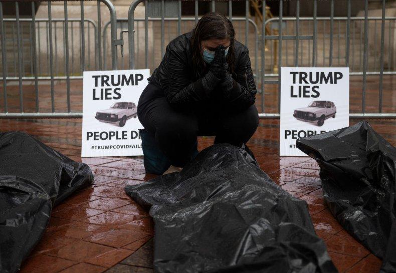 Donald Trump, hotel, Washington D.C., coronavirus, protest