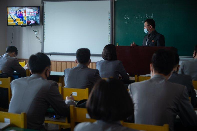 north, korea, students, classroom, coronavirus