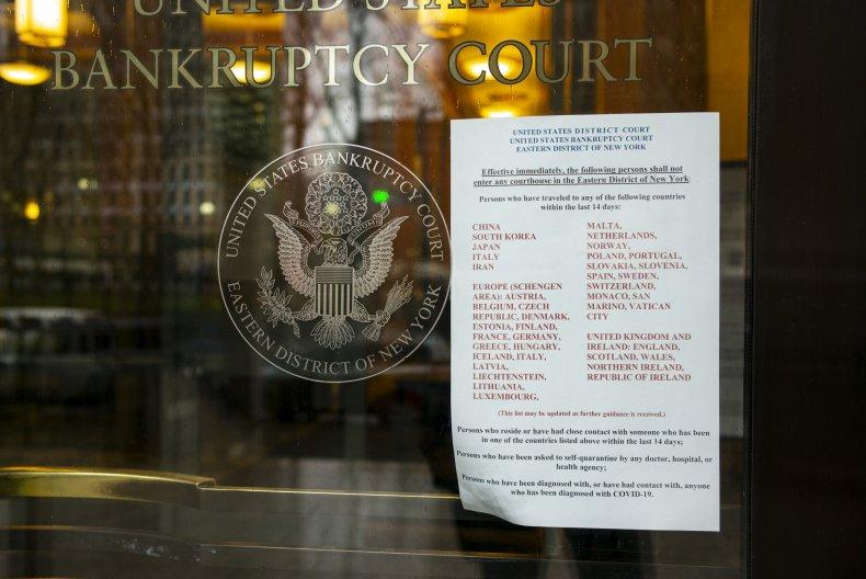 U.S. bankruptcy courts coronavirus filings