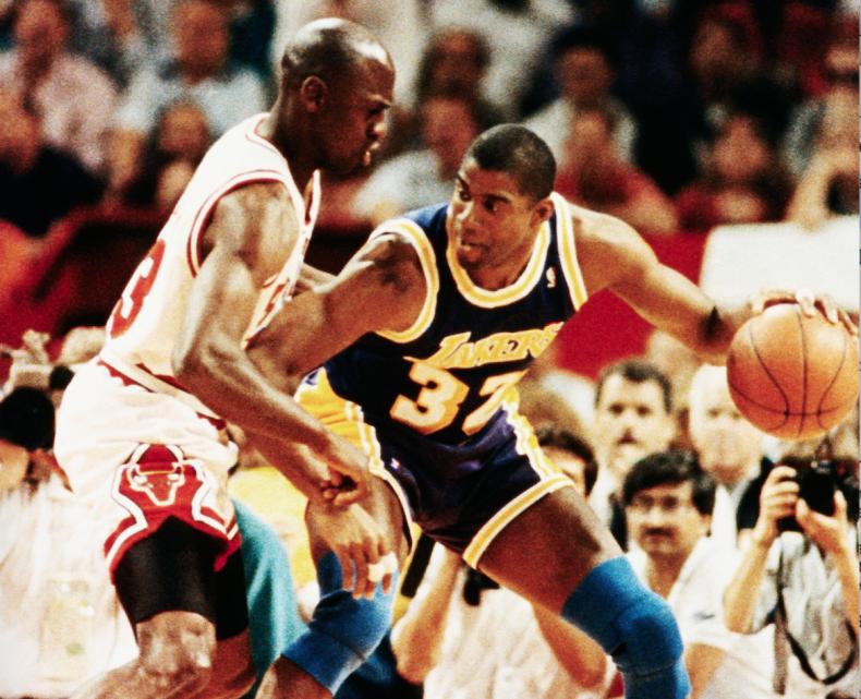 Michael Jordan, Magic Johnson