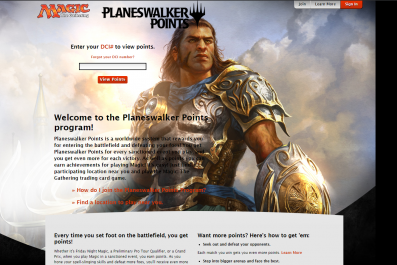 magic the gathering arena planeswalker points dci