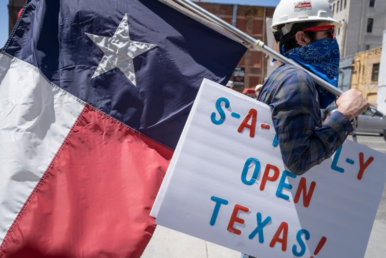 El Paso, Texas, coronavirus protest, April 2020