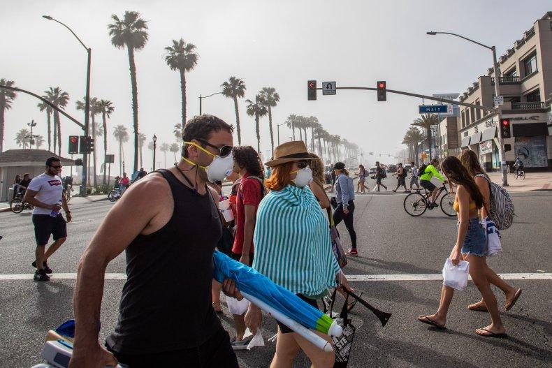 COVID-19 pandemic in Huntington Beach, California April 25, 2020.