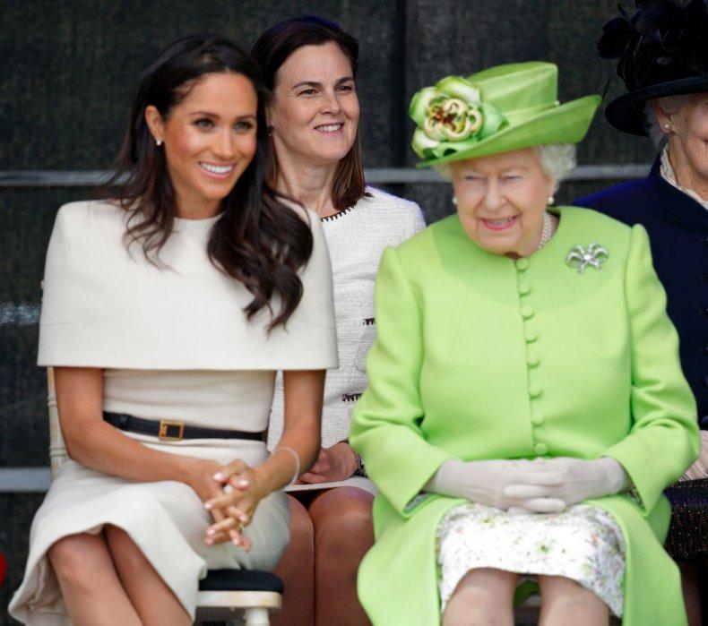 Meghan Markle, Queen Elizabeth II, Samantha Cohen