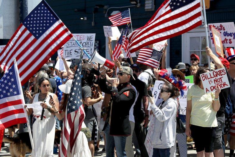 Coronavirus Lockdown Measure Protest in San Diego
