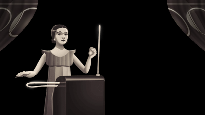 Clara Rockmore Theremin Google Doodle