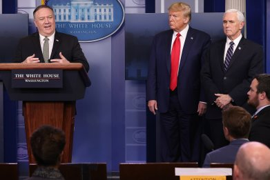 Mike Pompeo, Donald Trump, Mike Pence