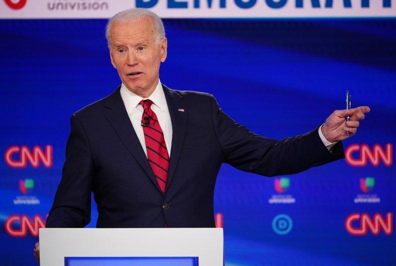 Former Vice President Joe Biden at Debate