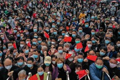 Hubei, China, coronavirus, medical staff, March 2020