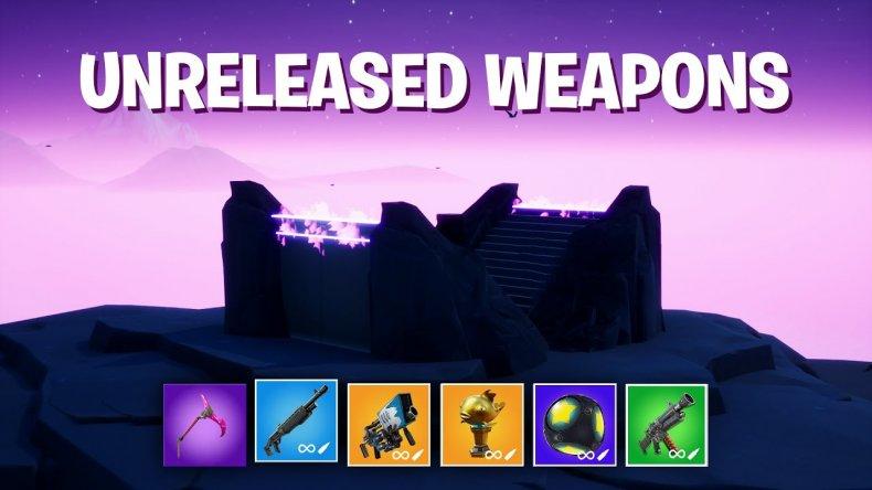 fortnite unreleased weapons 1v1