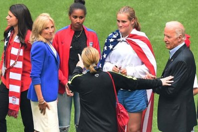 Joe Biden and Women's Soccer