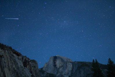 Eta Aquarid meteors, California
