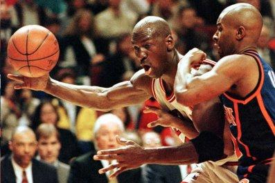 Michael Jordan, Chicago Bulls, New York Knicks