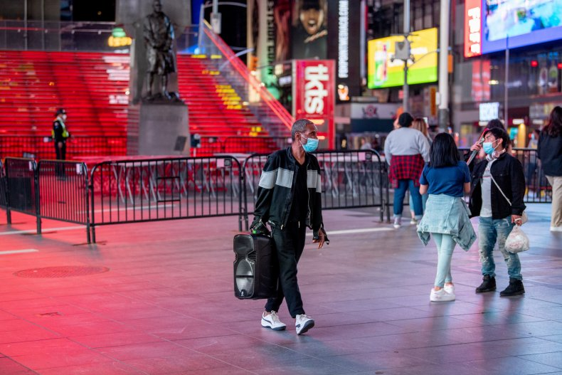Times Square, Coronavirus