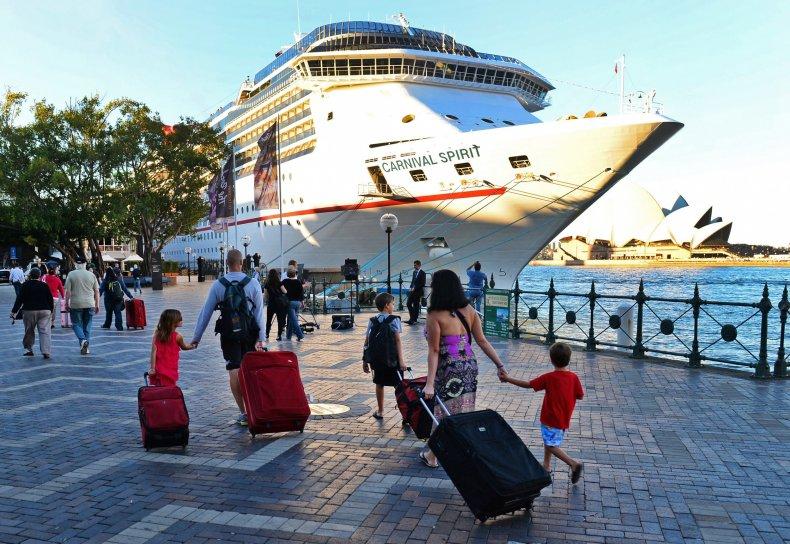 Carnival cruise ship, Australia, May 2013