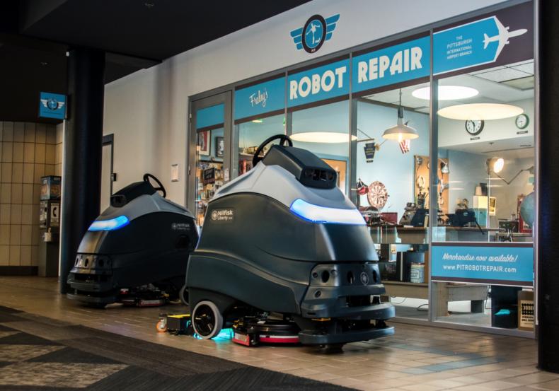 Carnegie Robotics floor cleaning robots