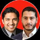 Abdul El-Sayed and Victor Roy