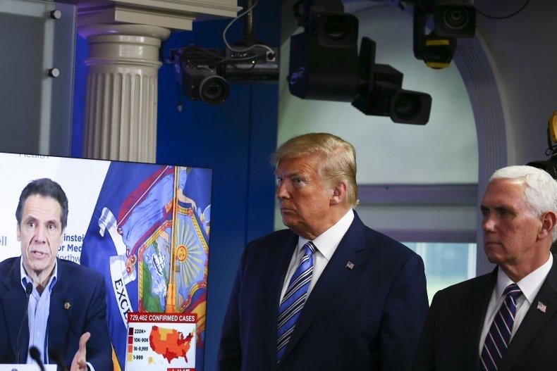 Trump, Cuomo and Pence