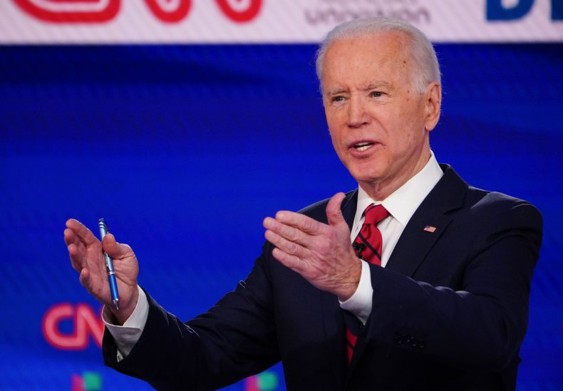 Former Vice President Joe Biden at Debate