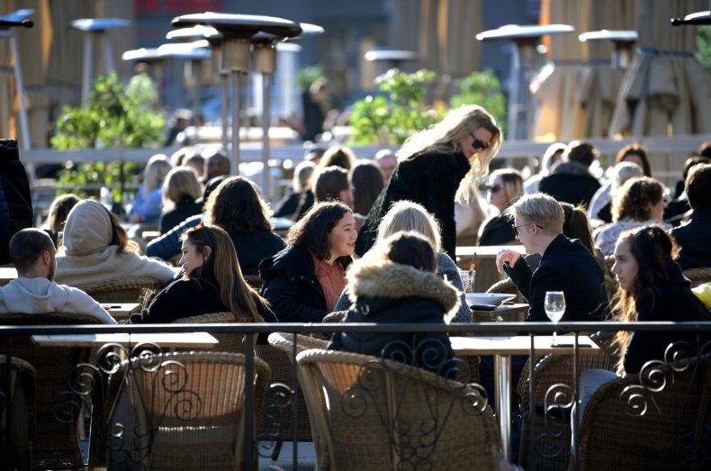 Cafe, Stockholm, Sweden, March 2020, coronavirus