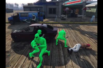 grand theft auto v gta alien green