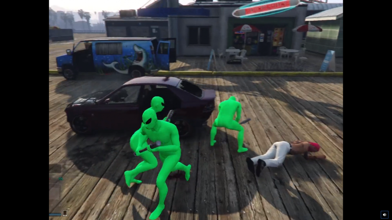 grand vol auto v gta alien vert